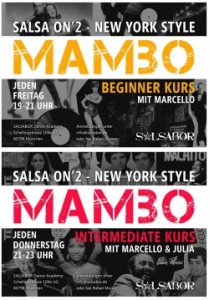 "Salsa ""on 2"" / N.Y. Style, Mambo & Cha Cha (Intermediate)"