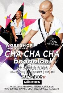 Cha Cha-Boogaloo mit Ryan im Salsabor @ Salsabor Dance Academy