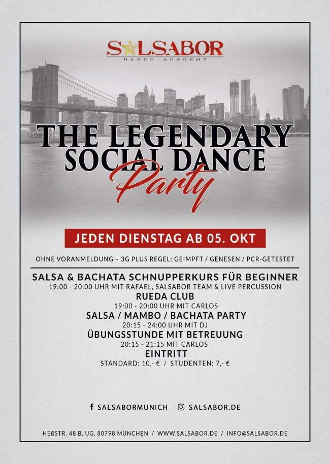 Salsabor Party Flyer